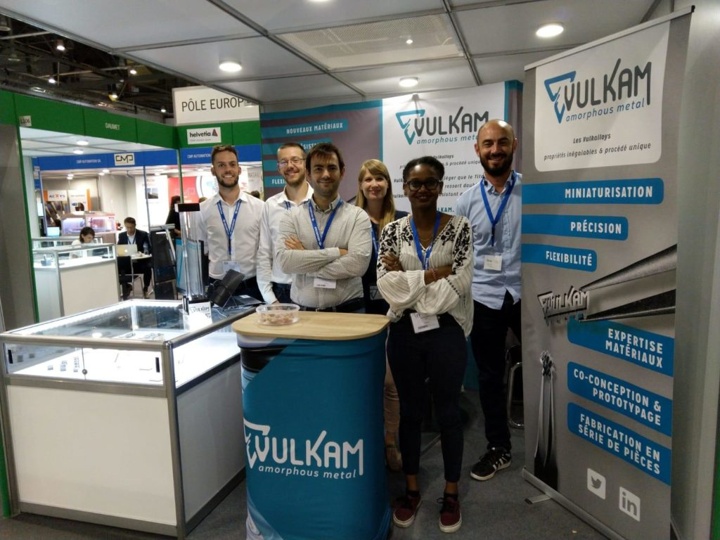 The Vulkam team in front of its booth at EPHJ 2019