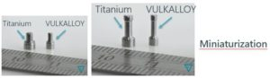 conférence LAM-17 : Exemple de pièces en métal amorphe Vulkalloy miniatures