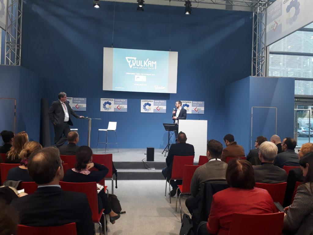 Xavier Cerutti presents Vulkam at Medica-Compamed 2019 with IVAM