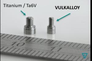 exemple de vis comparaison TA6V et Vulkalloy