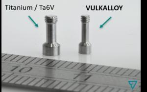 vis comparaison TA6V et Vulkalloy