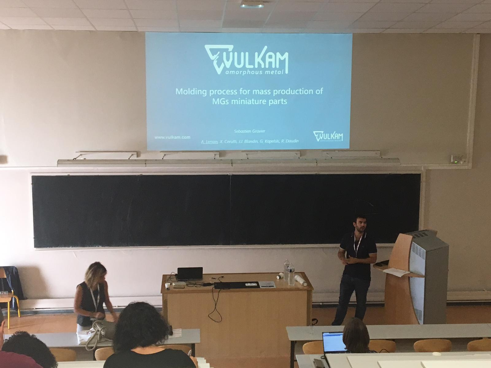 Mr LENAIN of Vulkam, at the Conference on Amorphous Metals (LAM) in 2019